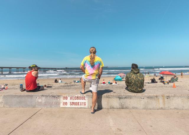 A hippie at Ocean Beach