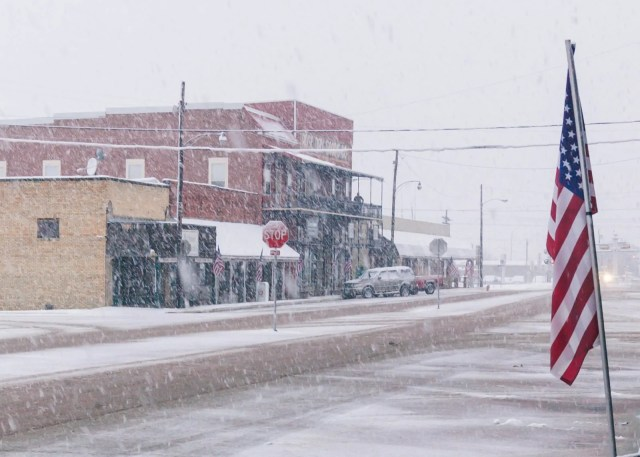 Downtown Wills Point in the 2010 East Texas snowstorm