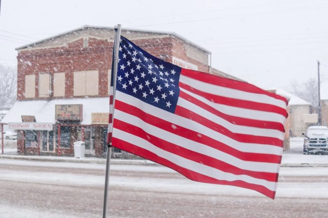 The American flag in Snowmageddon 2010