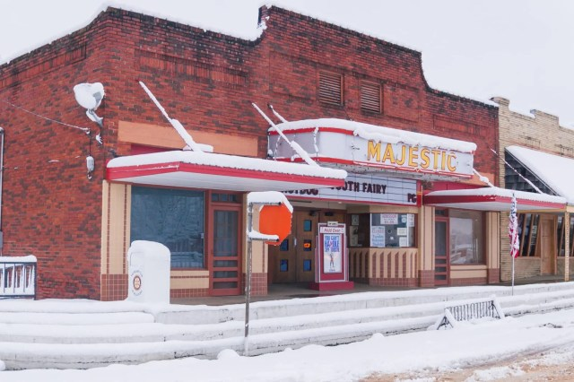 The Majestic Theater in the 2010 East Texas snowstorm