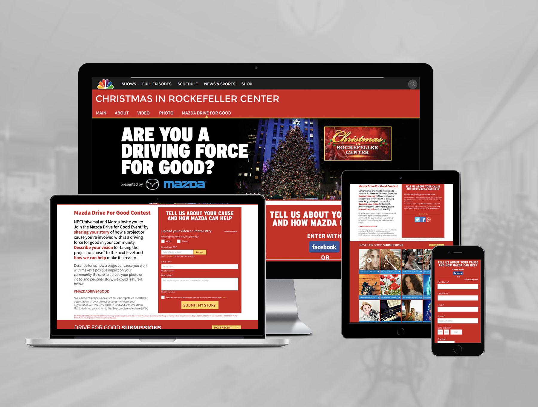 web design showcase - NBC and Mazda