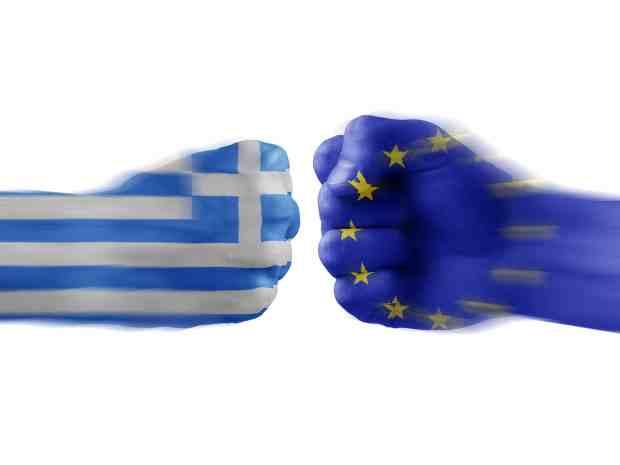Konfrontation zwischen Griechenland und der EU © Aquir | Dreamstime.com
