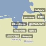 Die Trendsmap zeigt an, was lokal gerade diskutiert wird. Screenshot: Süßen