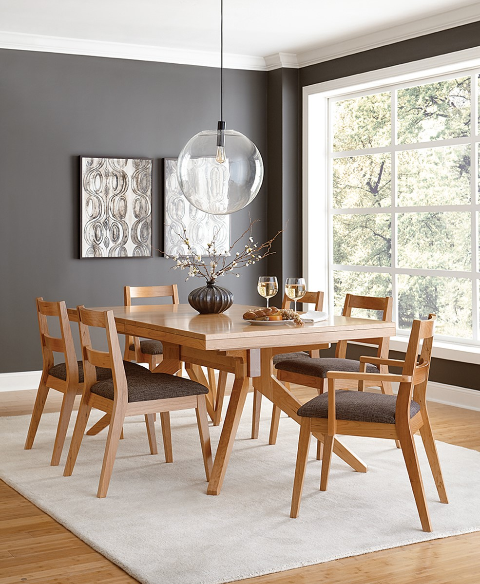 Sonora Dining Collection shown in Cherry with a Natural Finish at Mattie Lu