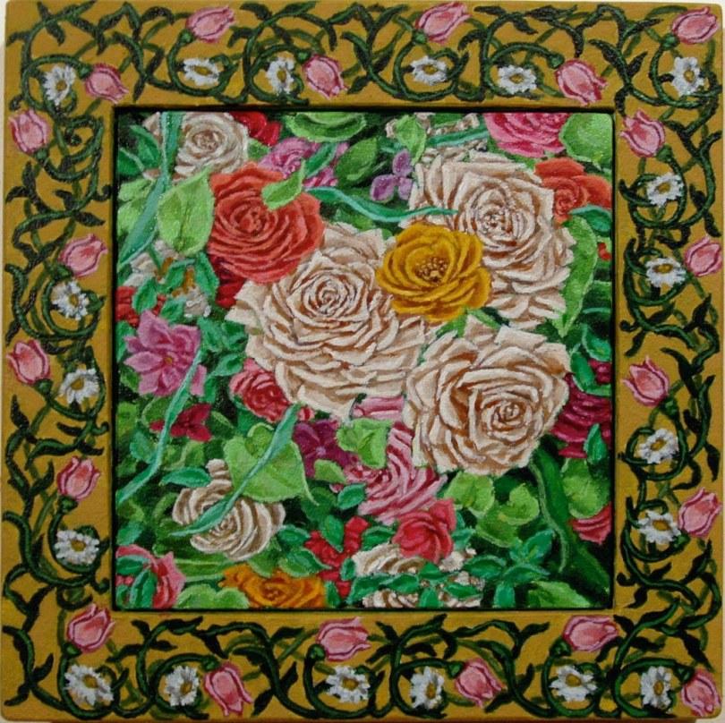 small rose garden