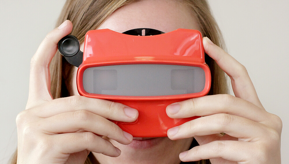 Woman using a viewfinder