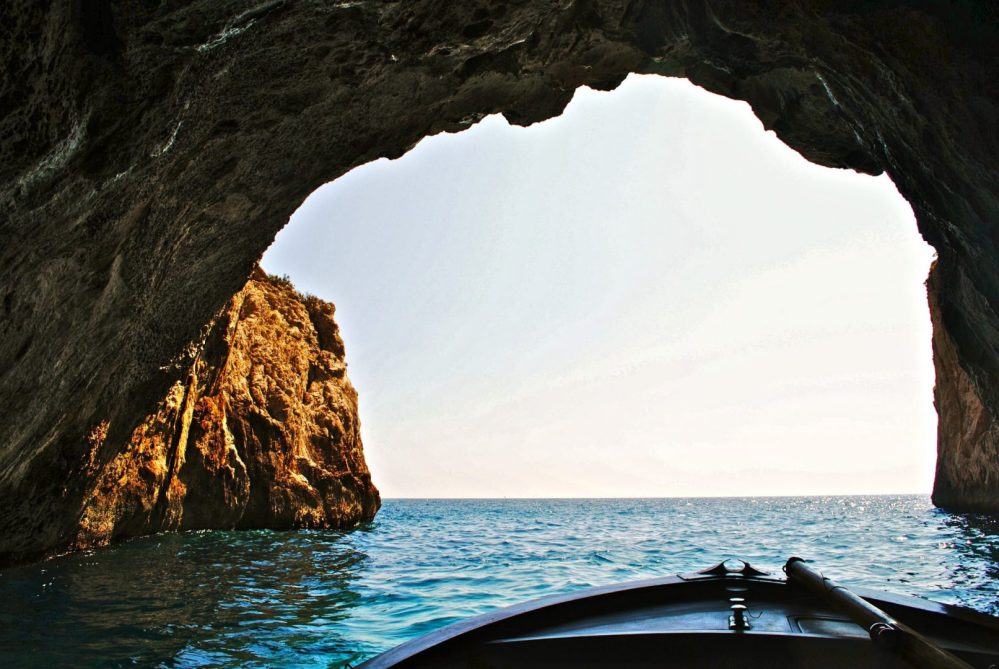 2018 Goals Feature Image - boat exiting a cave