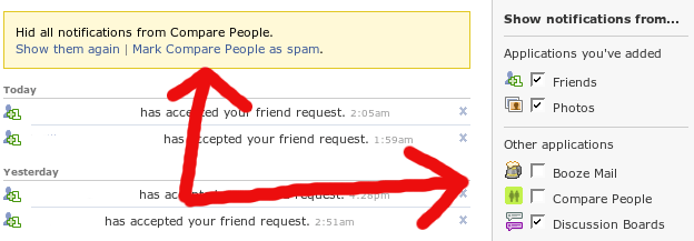 Facebook Spam Removal