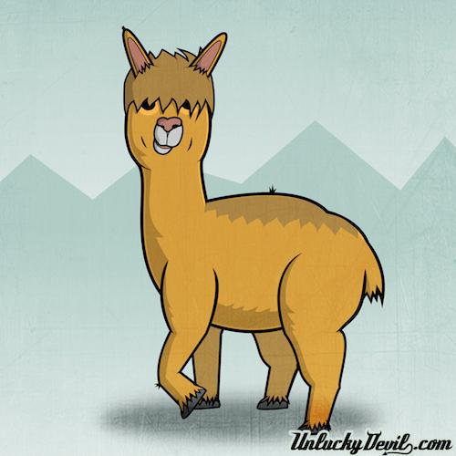 Super Cute Alpaca Illustration! Omg Wow! - Matt Lawrence