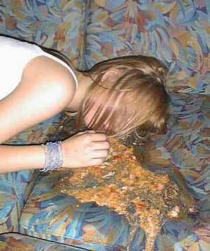 drunk girl vomiting