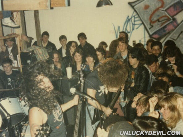 Tom Araya Kerry King Slayer Live live at the Jules Loft 1984