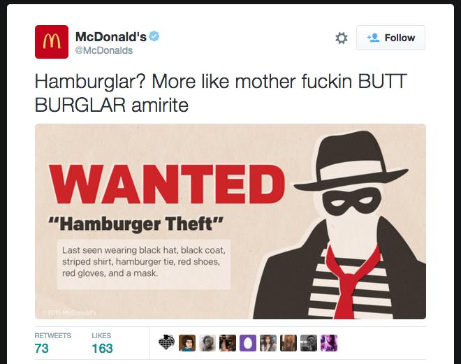 mcdonalds butt burglar