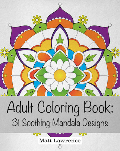 Adult Coloring Book 31 soothing mandala designs matt lawrence