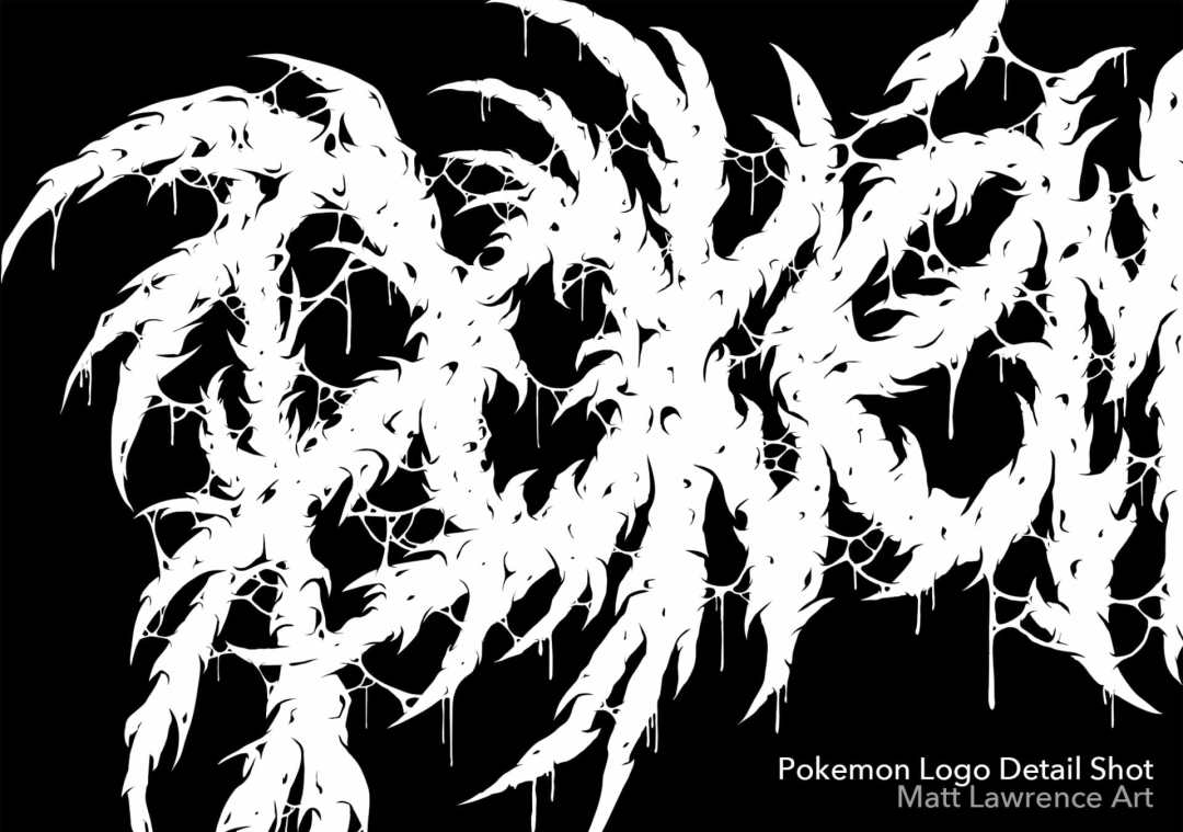 Brutal Pokemon Logo Details