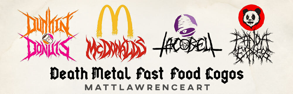Death Metal Fast Food Logos