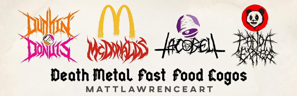 Death Metal Fast Food Logos