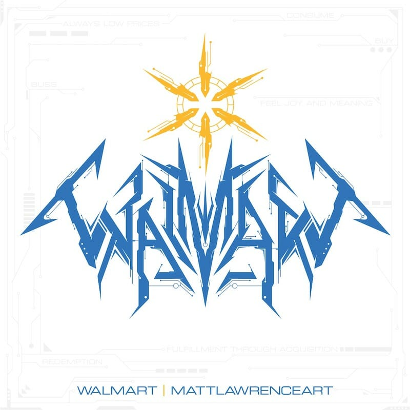 Walmart Tech Death Logo by Matt Lawrence Art