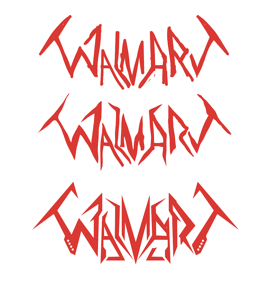 Walmart logo redesign sketch