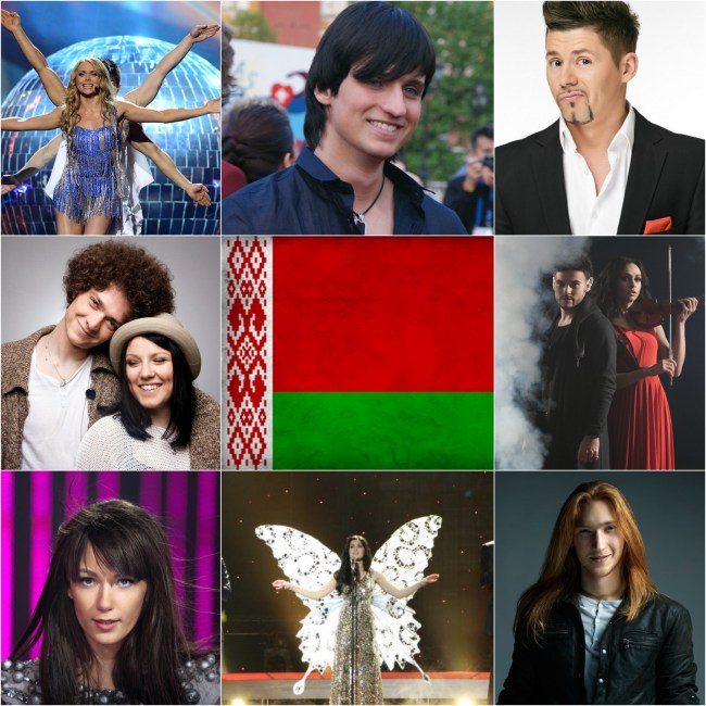 Top Eurovision entries of Belarus