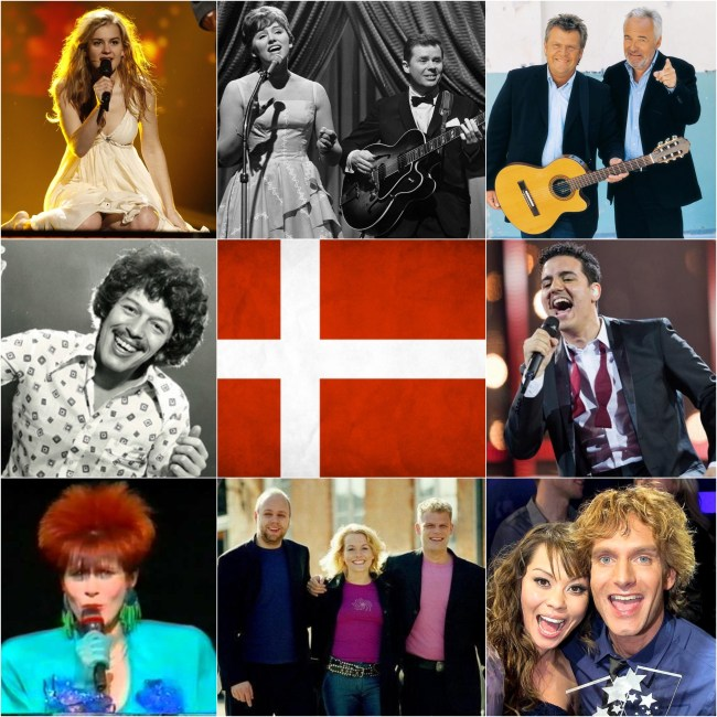 Top Eurovision entries from Denmark
