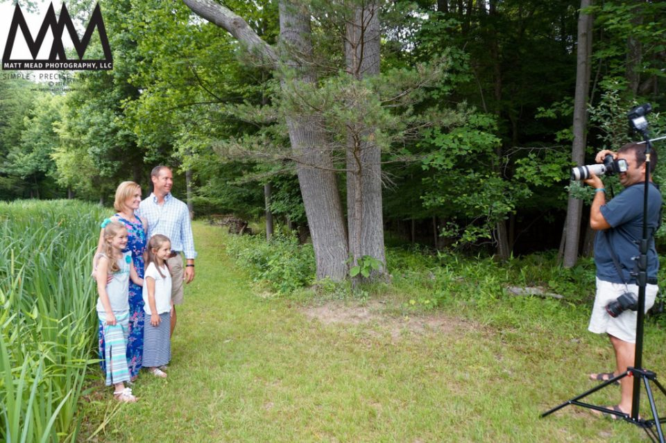 Behind the scenes of family portraits in Ligonier, PA