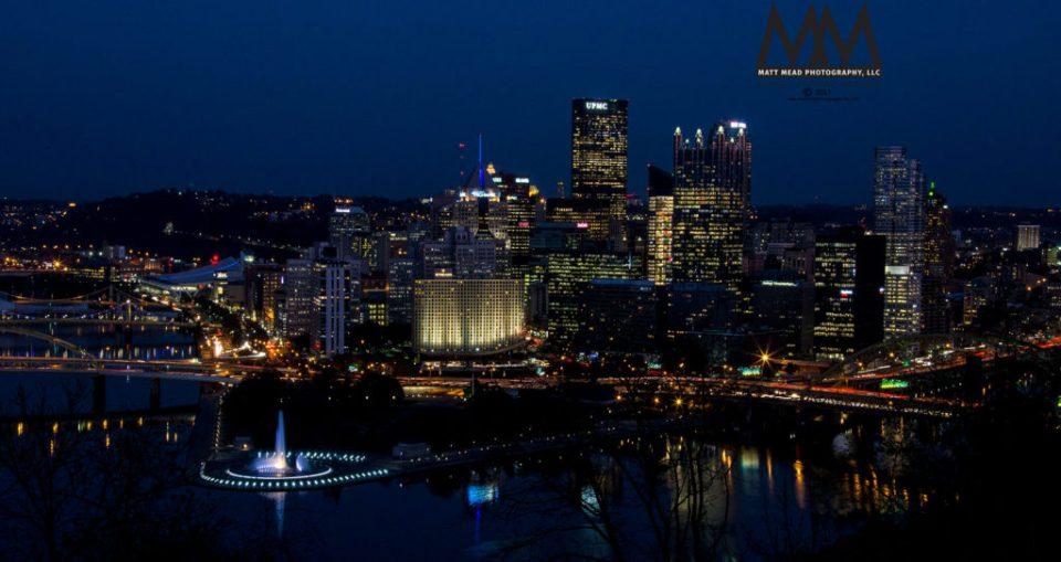 Pittsburgh, PA night sky