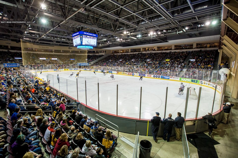 Crowd at Erie Otters Hockey game at Erie Insurance Arena Erie, PA