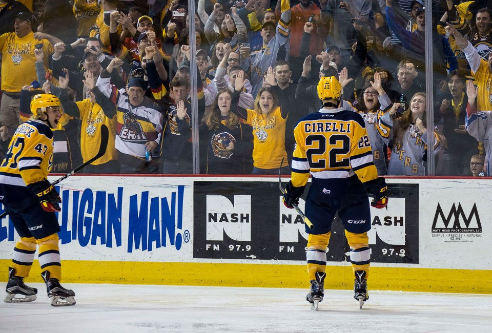 Anthony Cirelli of Erie Otters Hockey Club