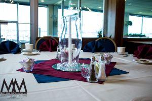 erie pa wedding venue yacht club vase photo