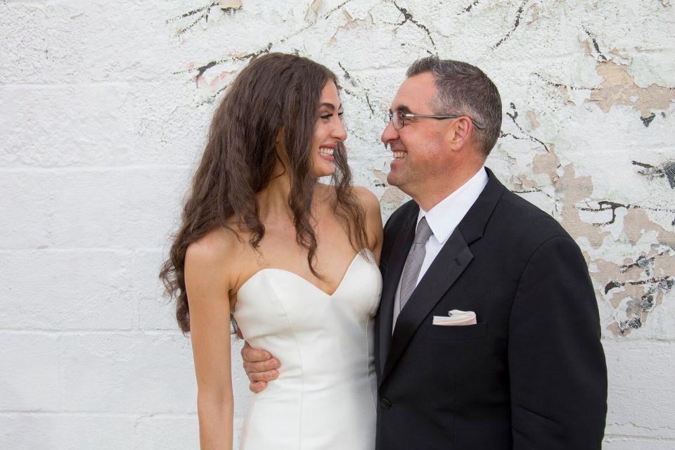 spirit pittsburgh pa wedding dad and daughter smiling photo