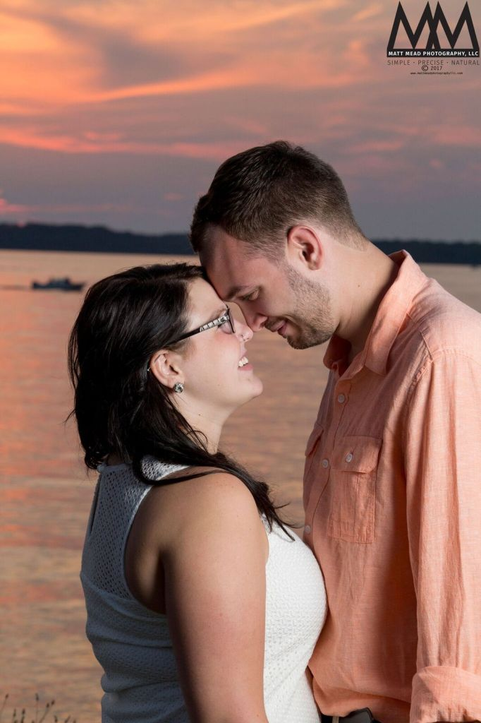 erie pa engagement staring into eyes photo