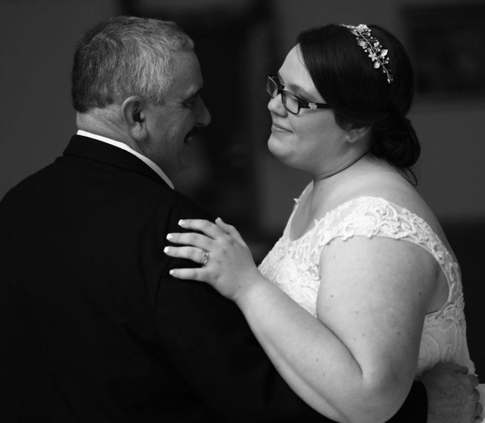 bride dancing with her father at her wedding in Erie, PA