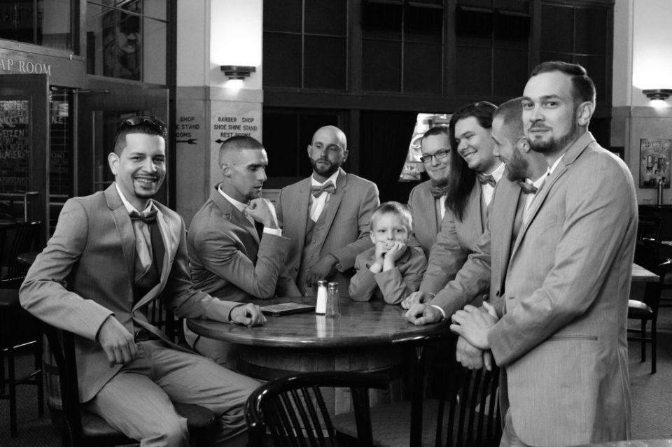 groom and groomsmen at Brewerie wedding in Erie PA