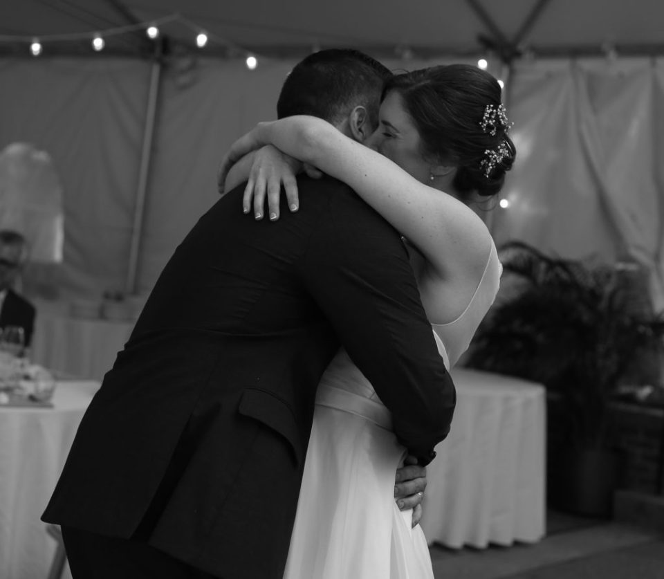 second photographer's perspective of couple's first dance at their wedding reception at Pittsburgh National Aviary