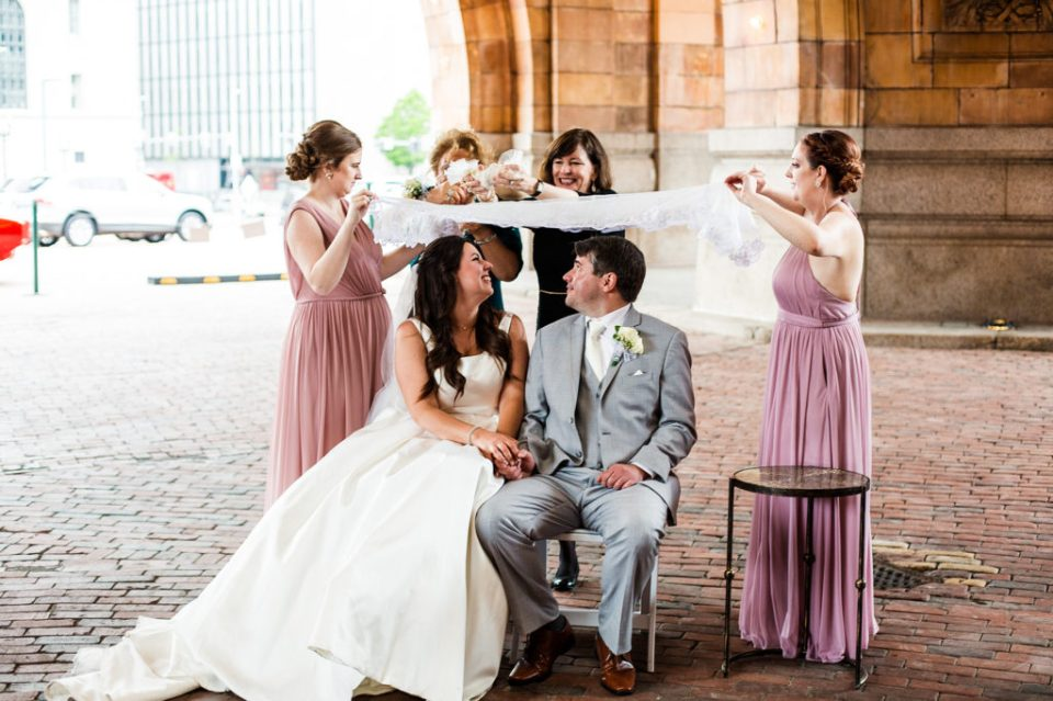 Persian sugar ceremony at a Pittsburgh wedding in the Rotunda of the Pennsylvanian Apartments