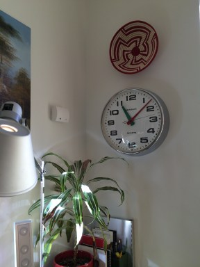 This plant's been with me since 2005 in Baltimore. Also, I'm still learning how to tell time on an analog clock.