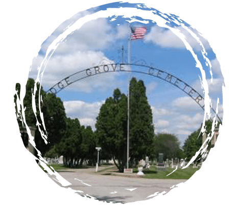 Entrance of Dodge Grove Cemerery in Mattoon, Illinois.