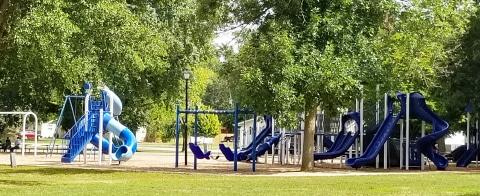 Peterson Park playground equiptment in Mattoon, Illinois