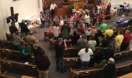 The 10:45 am Palm Sunday Service.