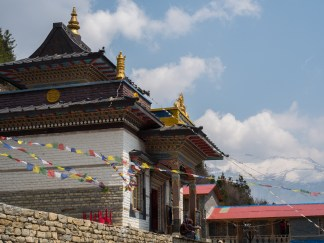 A newly built monastery in the village of Upper Pisang