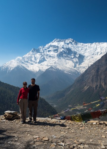 Charlotte and I with Annapurna II