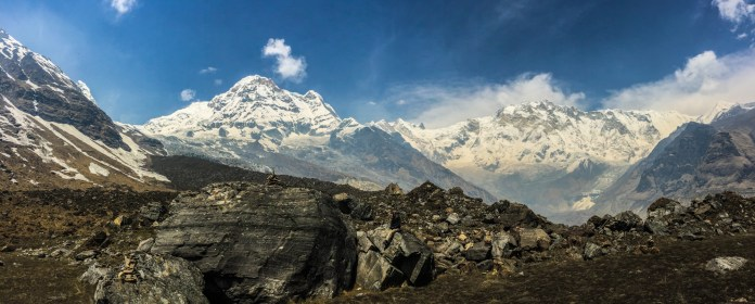 Annapurna South and Annapurna I - a magnificent site