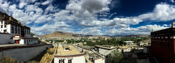 A lovely view from the Tashi Lhunpo Monastery out over Shigatse