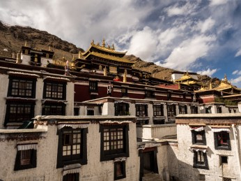The Tashi Lhunpo Monastery, along with it's many assembly halls