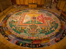 One of the many amazing mandalas (made from sand)