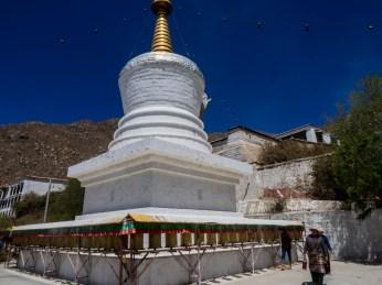 A stupa at Drepung Monastery