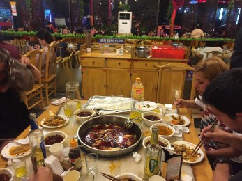 Our first Chengdu spicy hotpot