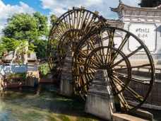 Waterwheels in the Lijiang old town