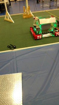 Another team's glowing robot (comp. 1).