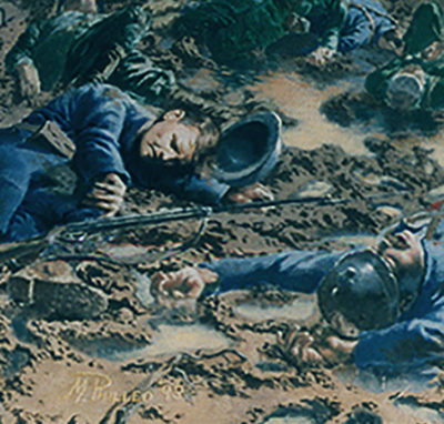 Cafe on the Somme World War I historical painting